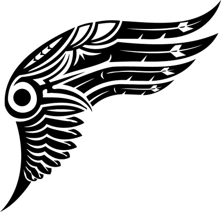 vinyl cutting: Wings.Vector illustration ready for vinyl cutting.