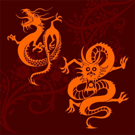 Chinese Dragons Stock Vector - 11316292