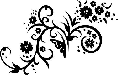 Elément de conception florale - vecteur d'image de vinyle prêt!