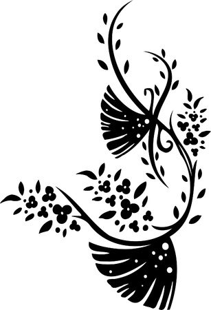 Floral Design Element - Vinyl-ready vector image! Vector