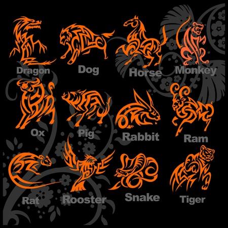 Chinese Horoscoop - vector illustratie