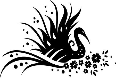 Floral Design - Vinyl-ready vector image!  Stock Vector - 11761547