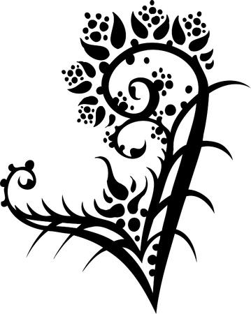 Floral Design - Vinyl-ready vector image! Stock Vector - 11761583
