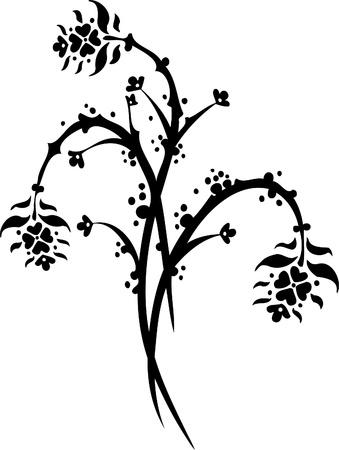Floral Design - Vinyl-ready vector image! Stock Vector - 11761653