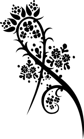 Floral Design - Vinyl-ready vector image!