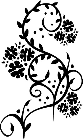 tendril: Floral Design - Vinyl-ready vector image!