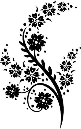 Diseño Floral - Vinilo listo vector de imagen!