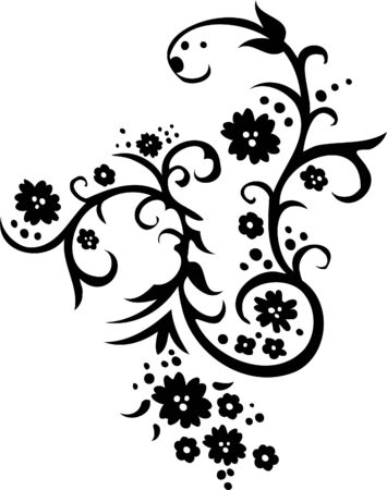 tendrils: Floral Design - Vinyl-ready vector image!