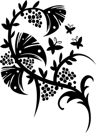 Floral Design - Vinyl-ready vector image!  Vector