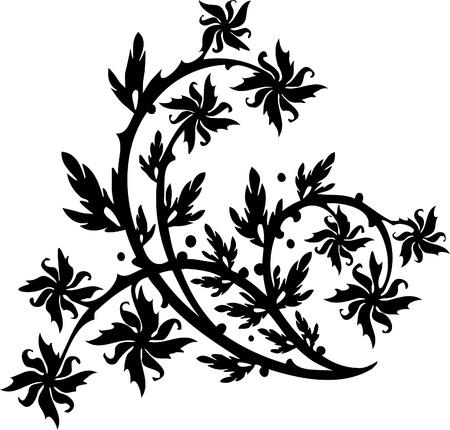 Floral Design - Vinyl-ready vector image! Vector Illustration