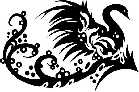 tendrils: Floral Design - Vinyl-ready vector image!