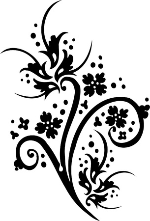 Chinese Floral Design - Vinyl-ready vector image! Stock Vector - 11761570