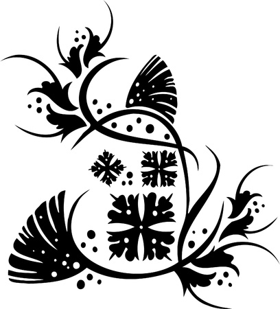 ilhouette: Chinese Floral Design - Vinyl-ready vector image!
