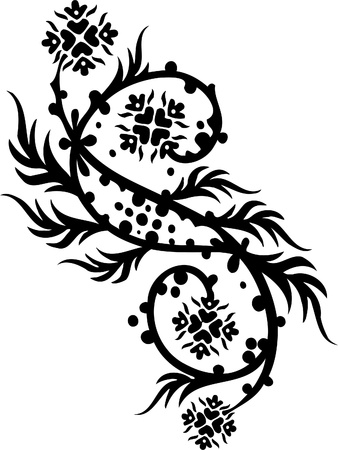 Chinese Floral Design - Vinyl-ready vector image! Stock Vector - 11761695