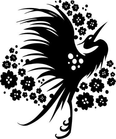 etnia: Diseño Floral de China - Vinilo listo vector de imagen!