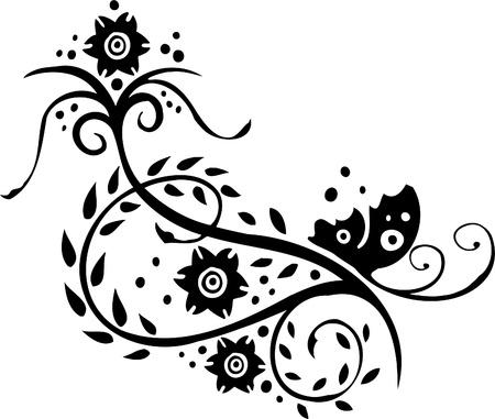 Diseño Floral de China - Vinilo listo vector de imagen!