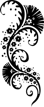 attern: Chinese Floral Design - Vinyl-ready vector image!