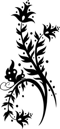 Chinese Floral Design - image vectorielle vinyle prêt!