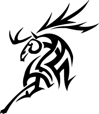 Deer design Stock Vector - 12036221