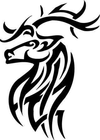 оленьи рога: Deer дизайн Иллюстрация