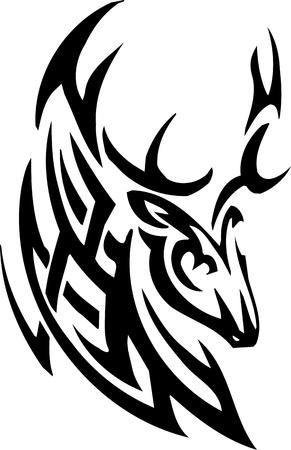 huge antlers: Deer design