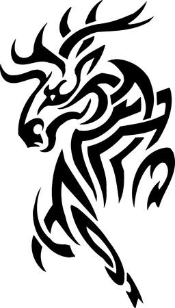 Deer design Stock Vector - 12036257