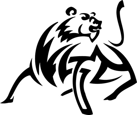 Lion in tribal style - vector illustration Vector