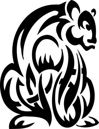 Bear in tribal style - vector illustration Stock Vector - 12202399