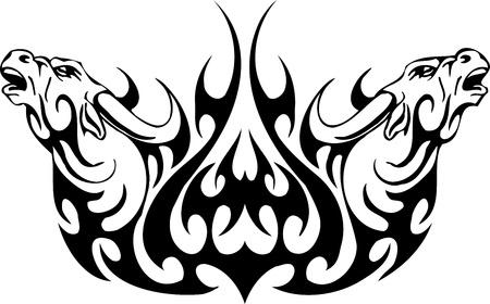 Bull in tribal style - vector image. Stock Vector - 12490324