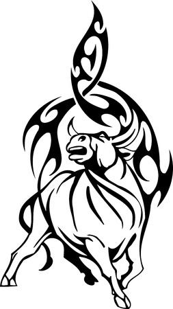 corrida: Bull in tribal style