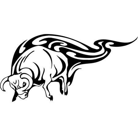 Bull in tribal style - vector image. Stock Vector - 12490003