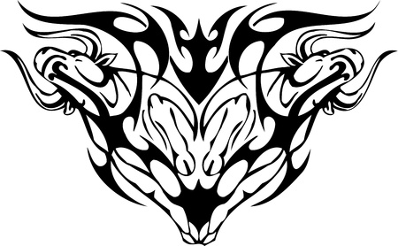 Bull in tribal style - vector image. Stock Vector - 12490413