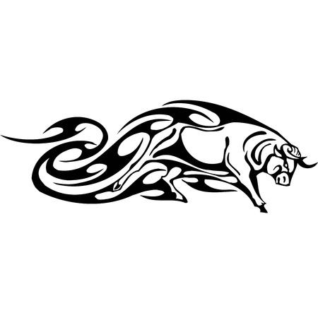 Bull in tribal style - vector image. Stock Vector - 12490002