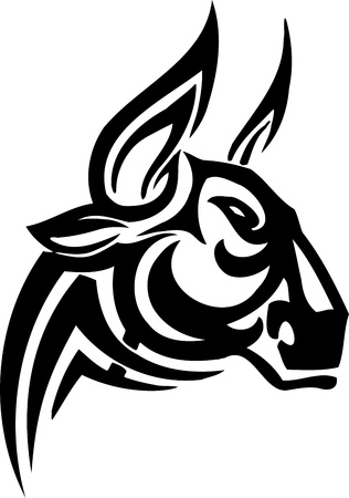 Bull in tribal style  Vector