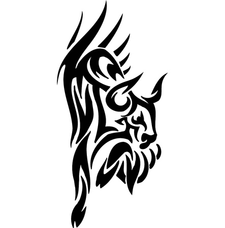 torero: Bull in Tribal Style - Vektor-Bild.