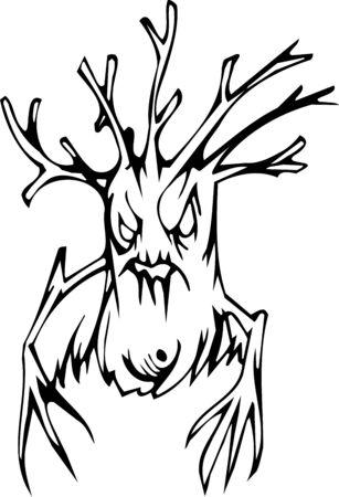 snag: Tree - Halloween Set - vector illustration