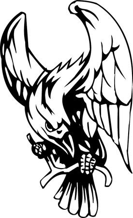 Raven - Halloween Set - vector illustration Vector