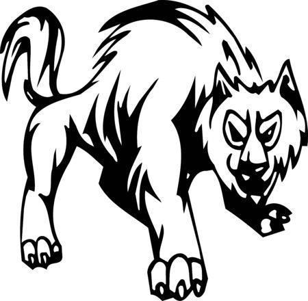 Wolf - Halloween Set - vector illustration Stock Vector - 12490907