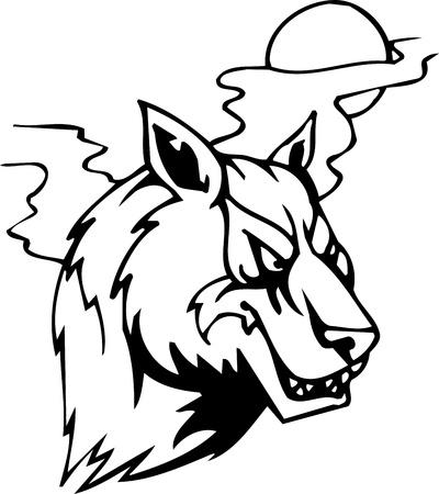 Wolf - Halloween Set - vector illustration Vector