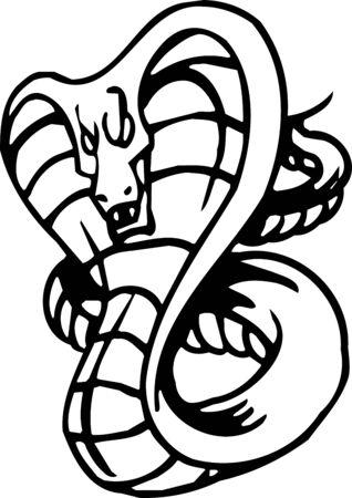 Snake - Halloween Set - vector illustration Vector