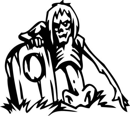 Dead - Halloween Set - vector illustration Stock Vector - 12490902