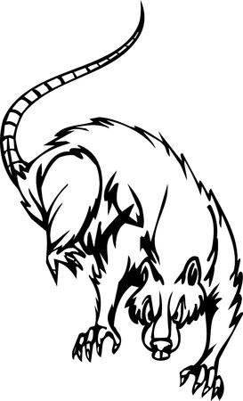 Rat - Set Halloween - illustration vectorielle