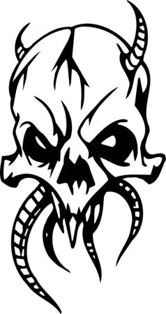 Skull - Halloween Set - vector illustration Stock Vector - 12490984