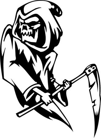 reaper: Sensenmann - Halloween-Set - Vektor-Illustration Illustration