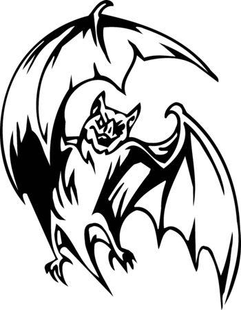 the bloodsucker: Bat - Halloween Set - vector illustration