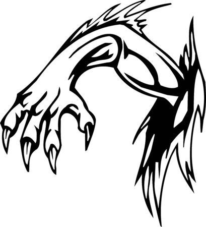 Hand - Halloween Set - vector illustration Illustration
