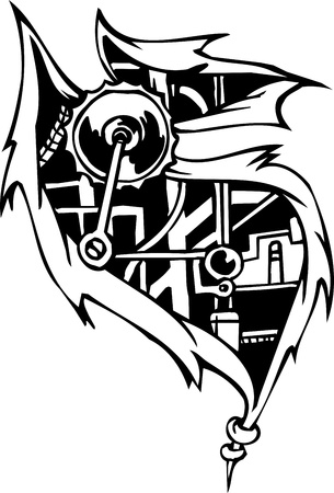 Biomechanical Designs Vector
