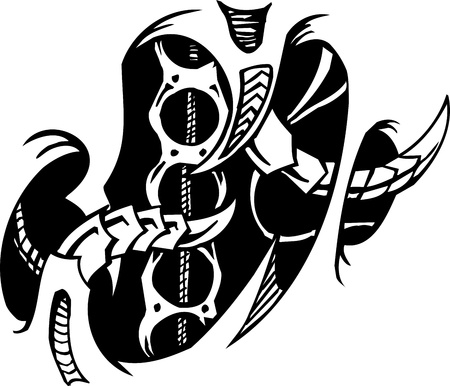 Biomechanical Designs illustration Vector