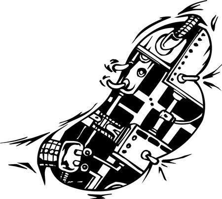 cyborg: Dise�os ilustraci�n de Biomec�nica Vectores