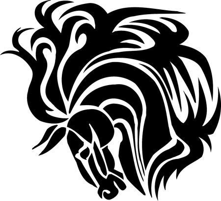 Horse in tribal style - vector illustration